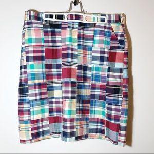 Brooks Brothers 346 Madras Plaid Skirt 12 Preppy